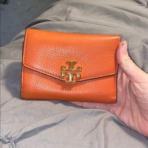 Tory Burch Kira Coral Medium Flip Wallet